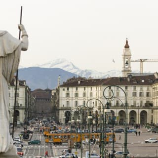 Piazza Vittorio Veneto view from the church of Gran Madre di Dio – Turin, Italy