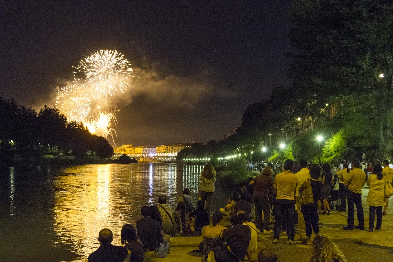 Fireworks during the feast of San Giovanni – Turin, Italy