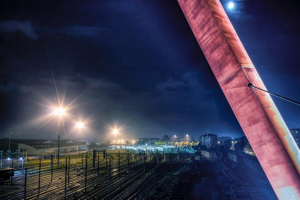 Lingotto train station by night – Turin, Italy