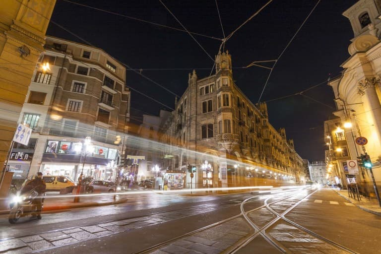 Via Pietro Micca by night – Turin, Italy