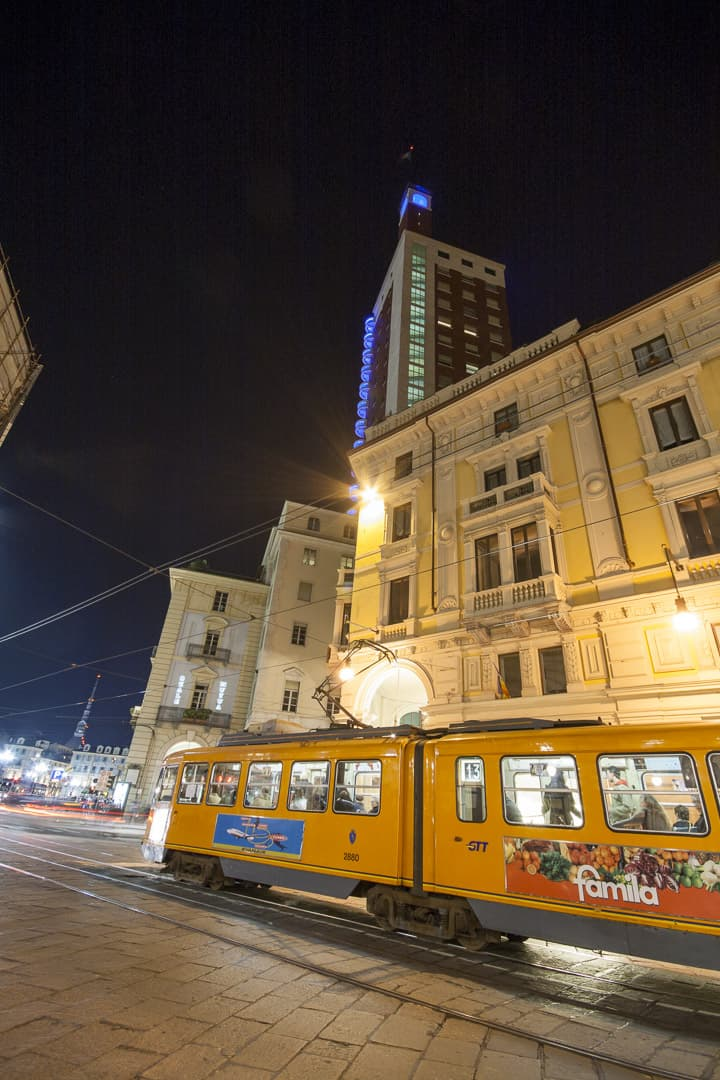 A tram at Via Pietro Micca – Turin, Italy