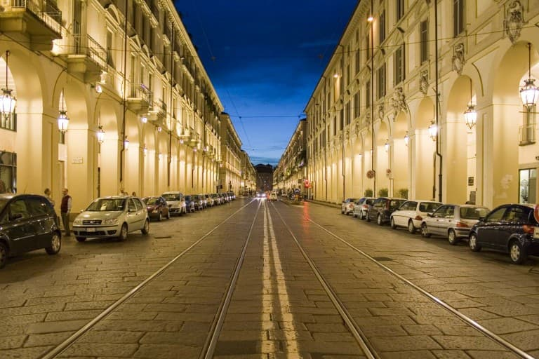 Via Po in the evening – Turin, Italy