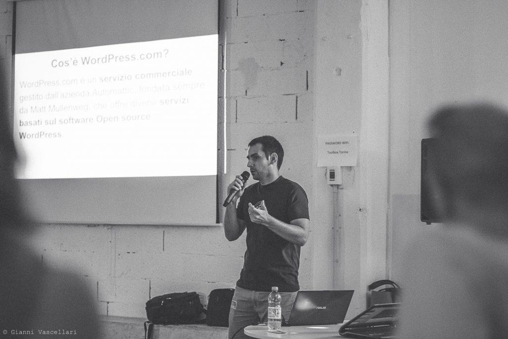 Olegs Belousovs al WordPress Meetup Torino