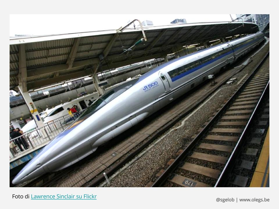 Treno giapponese Shinkansen Serie 500