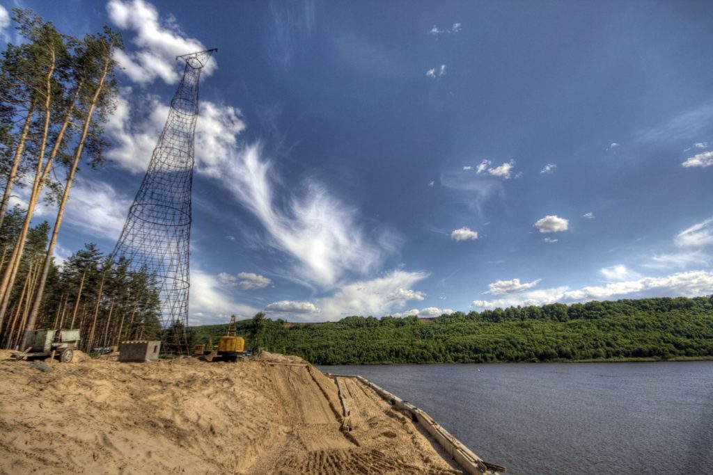 Abandoned Shukhov Tower on the Oka River – Dzerzhinsk, Russia